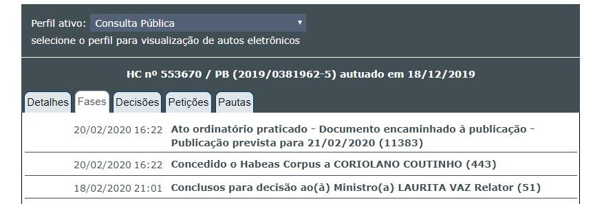 coriolando_habeas_corpus Ministra do STJ concede habeas corpus e manda soltar Coriolano Coutinho
