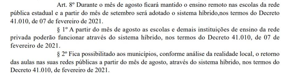 decreto_pb310721_educacao Novo decreto da Paraíba libera aulas presenciais nas escolas públicas estaduais a partir de setembro