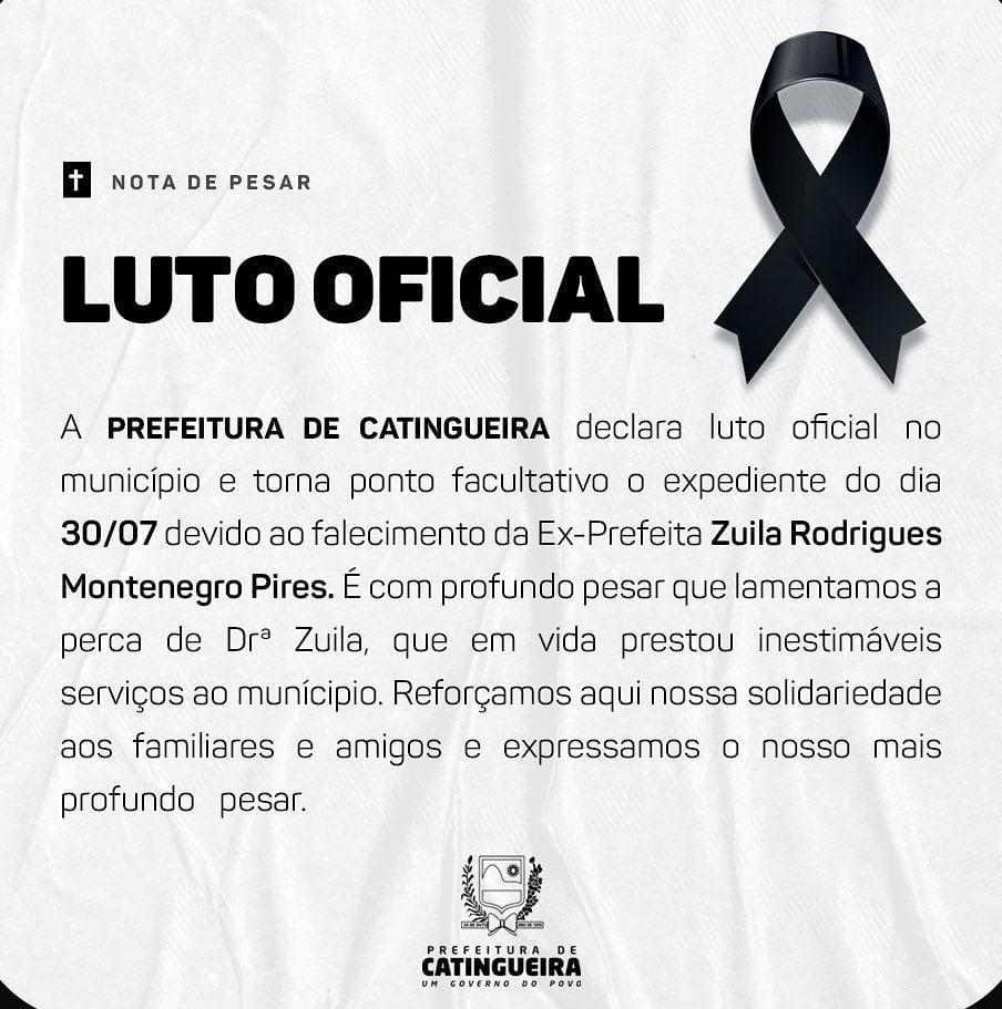 whatsapp image 2021 07 30 at 083518 - LUTO: morre ex-prefeita de município paraibano, aos 78 anos, vítima de infarto