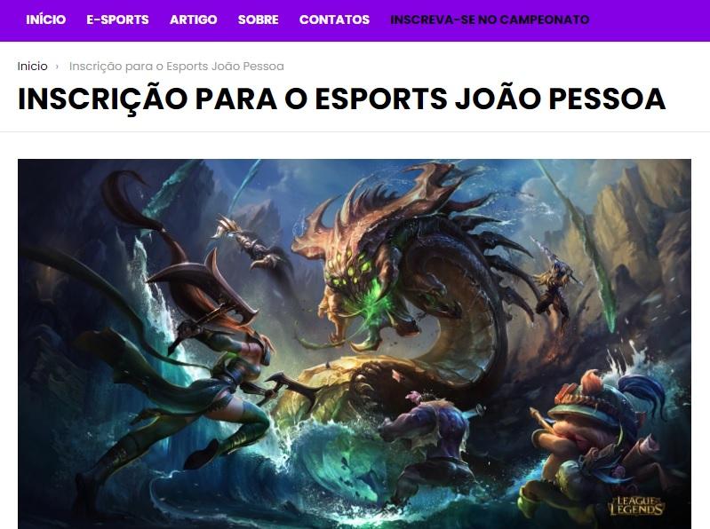 8bdbf1b5-f1c4-fc2f-6f0a-cab41496d9cd 'E-Sports João Pessoa' abre inscrições para campeonato de League of Legends