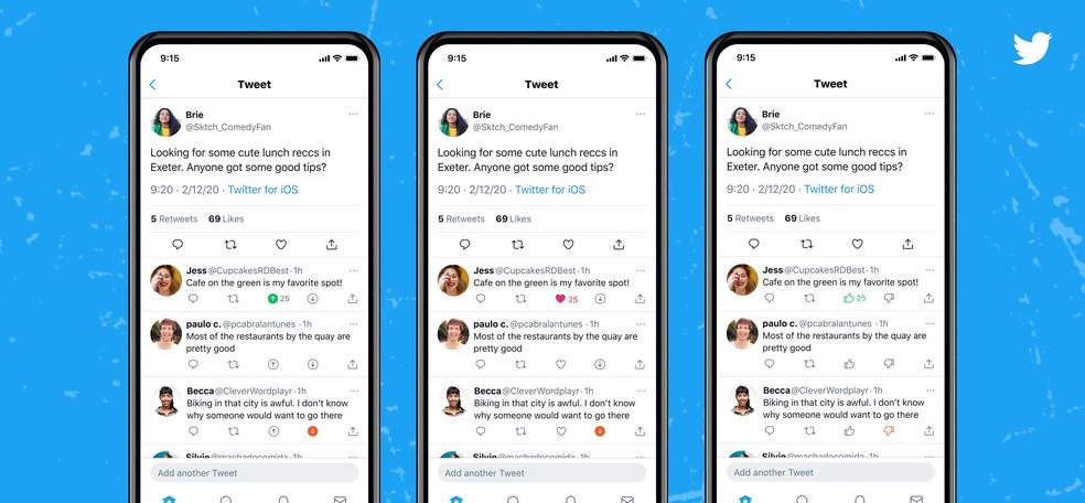 twitter-downvote Twitter experimenta opção para 'reprovar' respostas a tuítes no iPhone