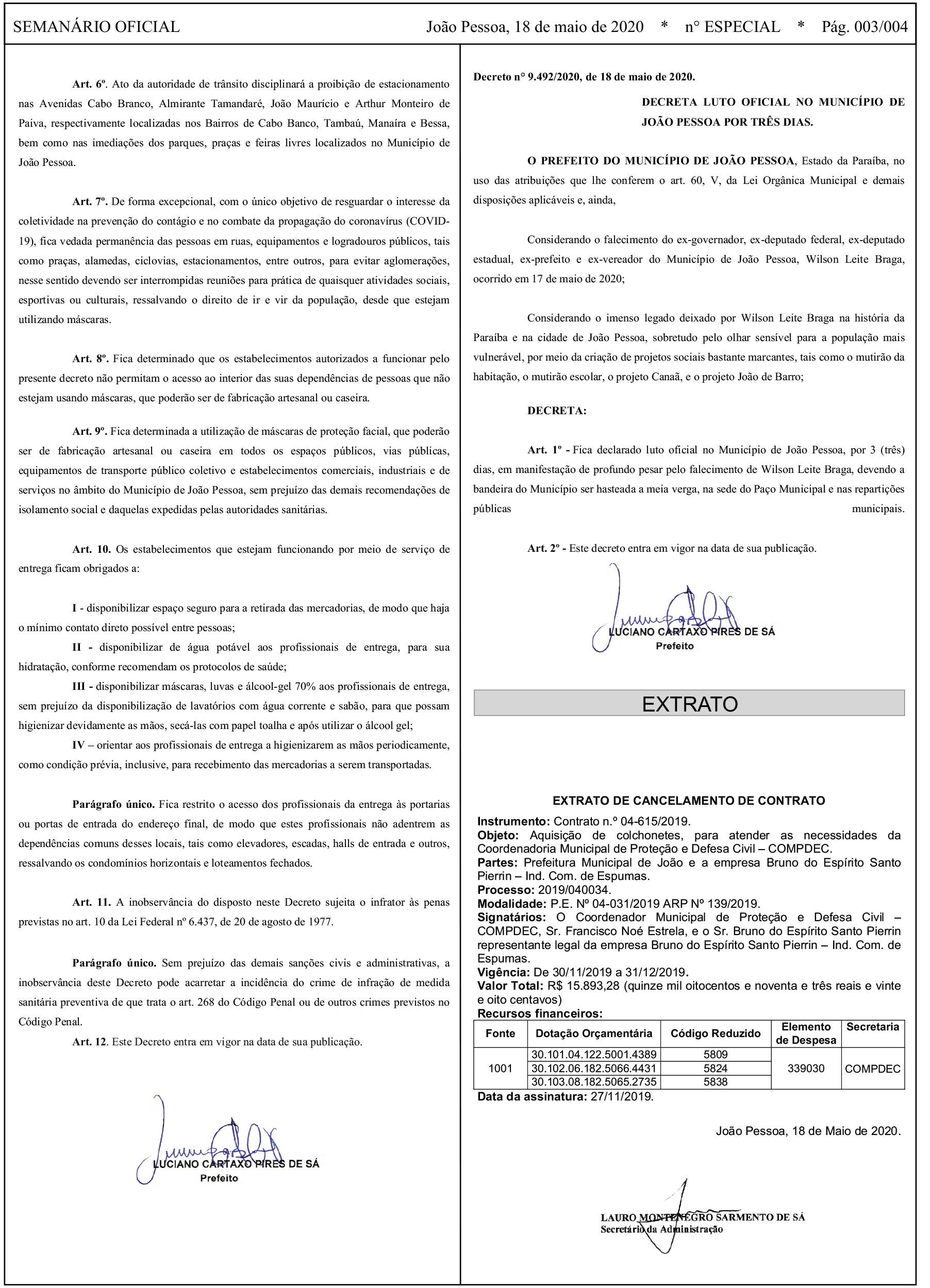 Decreto prorroga isolamento social em João Pessoa até 31 de maio e mantém  proibição de acesso a praias, praças e parques - ClickPB