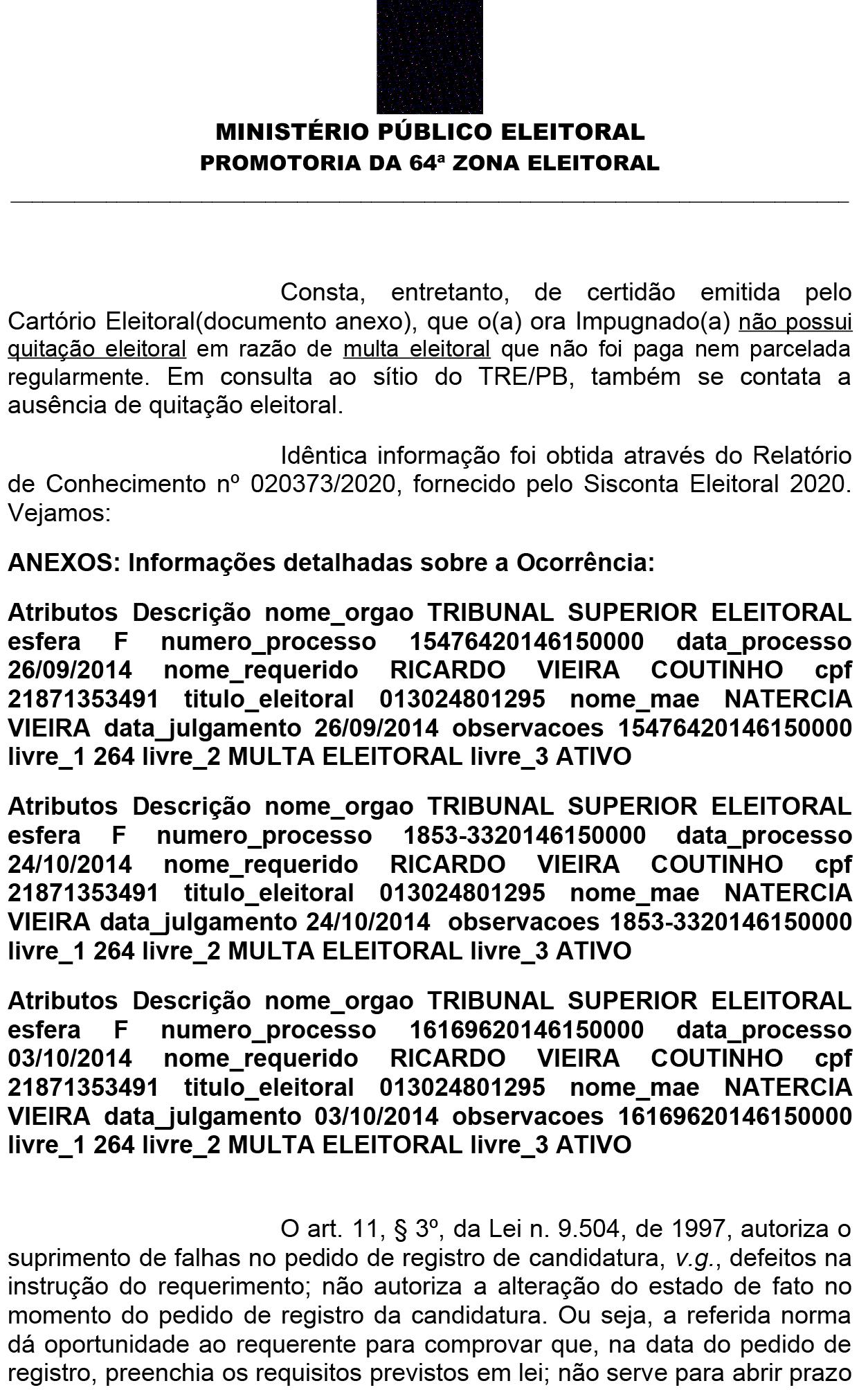 airc_ricardo_coutinho_1-2 Ministério Público da Paraíba pede impugnação da candidatura de Ricardo Coutinho a prefeito de João Pessoa
