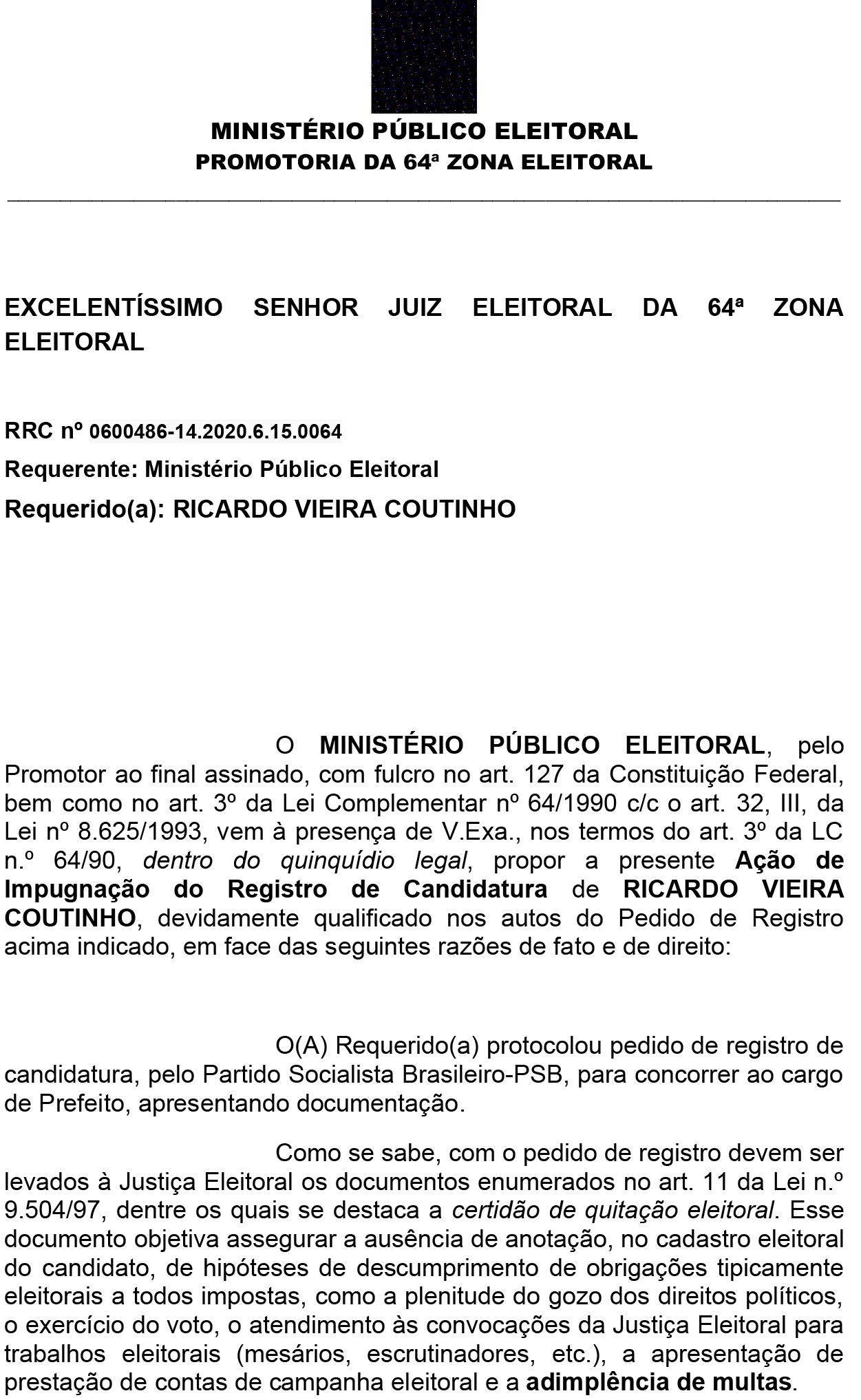 airc_ricardo_coutinho_1-1 Ministério Público da Paraíba pede impugnação da candidatura de Ricardo Coutinho a prefeito de João Pessoa
