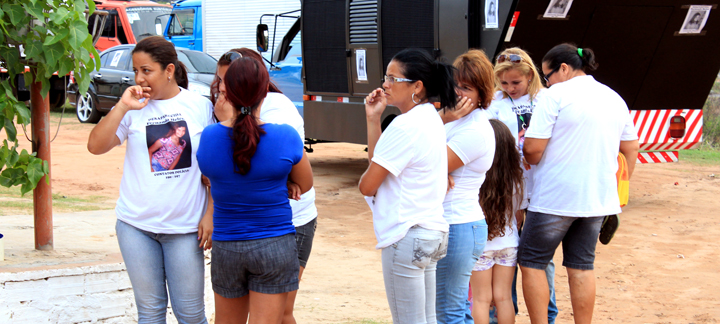 familiares e amigos de Fernanda